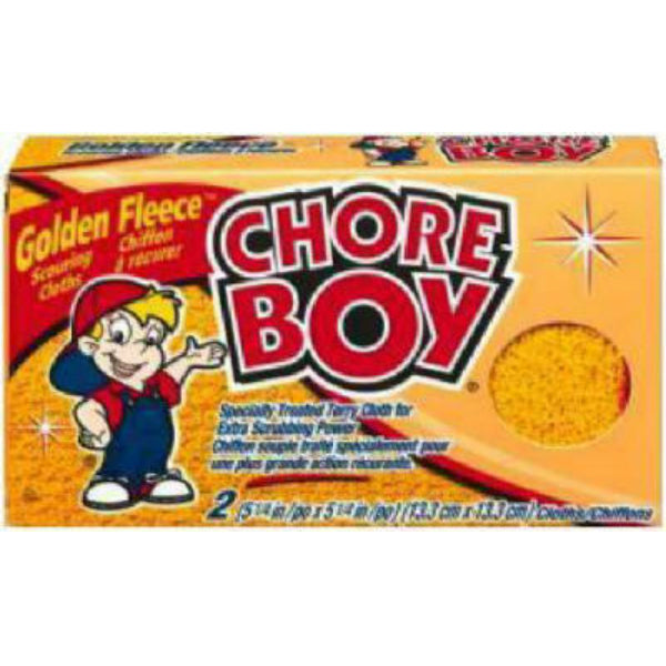 Chore Boy® 10811435002173 Golden Fleece Abrasive Scouring Cloth, 2-Pack
