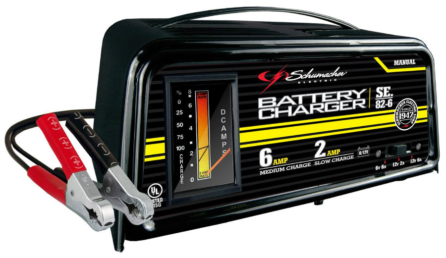 Schumacher® SE-82-6 Dual Rate Manual Battery Charger, 6A/2A, 6/12V