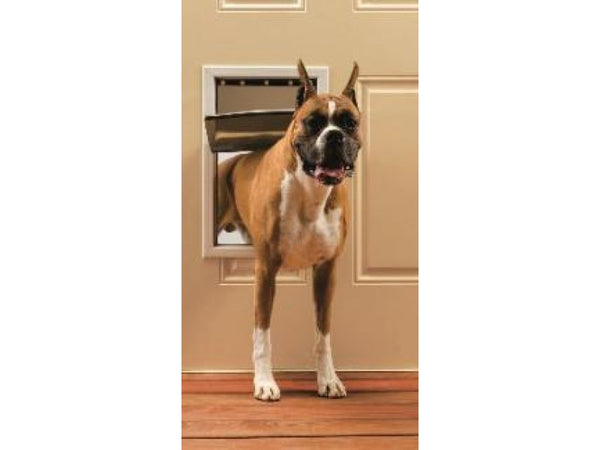 PetSafe® PPA00-10861 Freedom® Aluminum Pet Door, Large, White