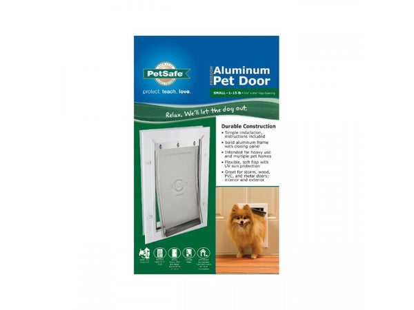 PetSafe® PPA00-10859 Freedom™ Aluminum Pet Door, Small, White