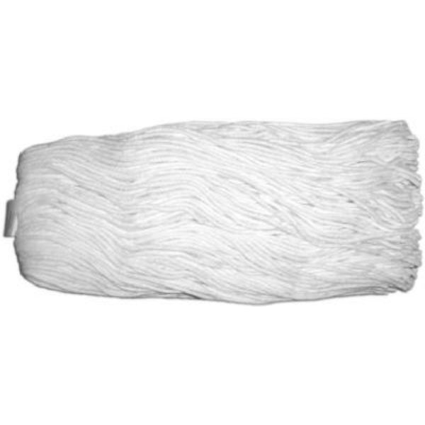 Abco 01307 Rayon Cut-End White Yarn 4-Ply Mop Head, 16 Oz