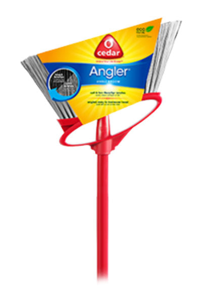 O' Cedar® 150245 Angler® Angle Broom with Double Bristle Technology