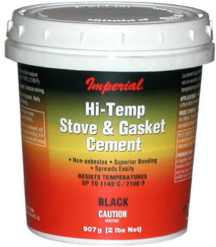 Imperial KK0295-A Furnace Cement, 16 Oz, Black