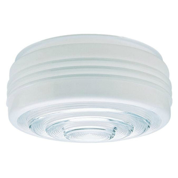 Westinghouse 85606 Glass Drum Light Shade, White and Clear, 6-1/2""