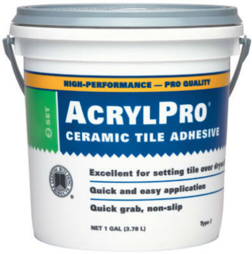 Custom® ARL40001-2 AcrylPro® Ceramic Tile Adhesive, 1 Gallon, White