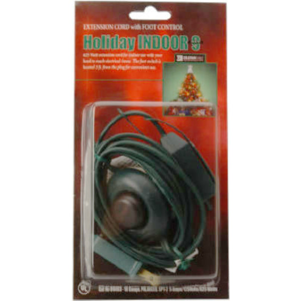 Coleman Cable 09493 Christmas Tree Cube Tap Extension Cord, Green, 16/2, 9'