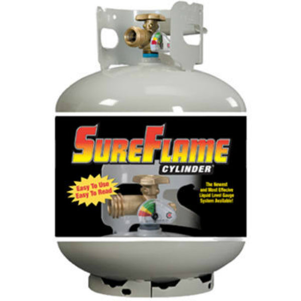 Manchester Tank 10577 SureFlame Vertical ACME/OPD Propane Cylinder, 20 Lb