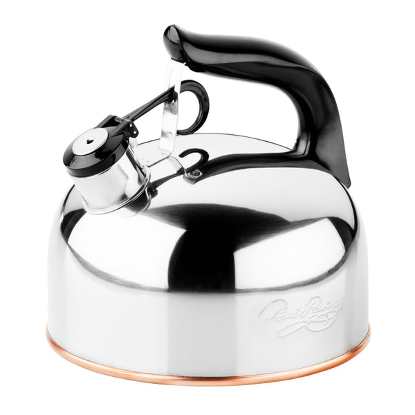Revere® 3527017 Classic™ Whistling Tea Kettle, Stainless Steel, 2-1/3 Qt
