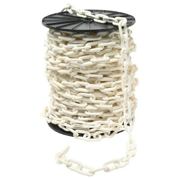 Easy Gardener® 982 White Plastic Reeled Chain, #2, 125'