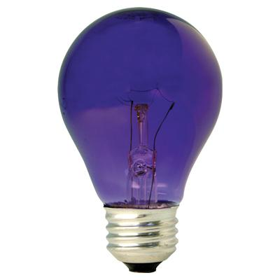 GE Lighting 22731 Incandescent A19 Party Light Bulb, Transparent Purple, 25W, 120V