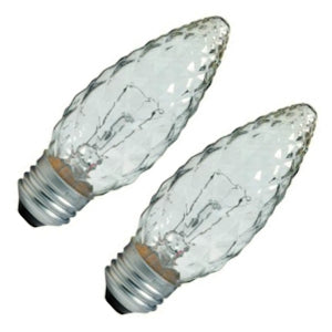 GE Lighting 40891 Decorative B13 Faceted Ceiling Fan Bulb, Crystal Clear, 40W, 2-Pack