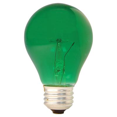 GE Lighting 49725 Medium Base A19 Party Light Bulb, Green, 25-Watt