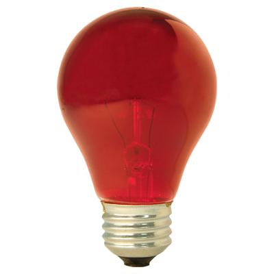 GE Lighting 49727 Medium Base A19 Party Light Bulb, Red, 25-Watt