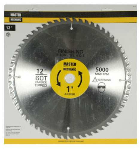 "Master Mechanic 301132 Precision Cutoff Circular Saw Blade, 12"", 60 Teeth"