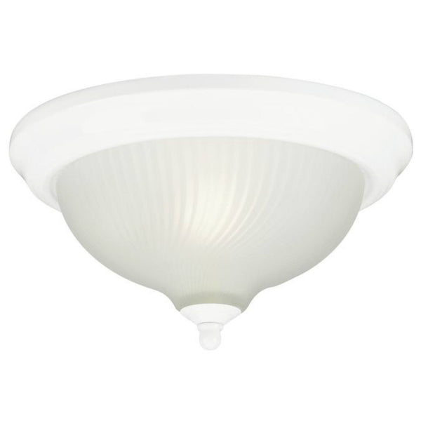Westinghouse 66378 One-Light Indoor Flush-Mount Ceiling Fixture, White