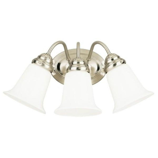 Westinghouse 66497 Three-Light Interior Wall Fixture, Brushed Nickel