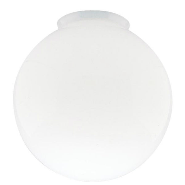 Westinghouse 85570 Handblown Gloss White Glass Globe, 6""