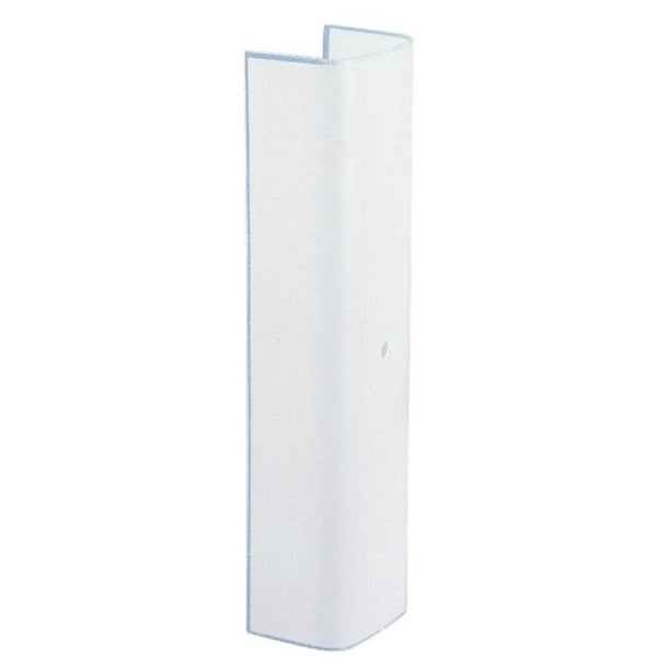 "Westinghouse 81759 Plain Glass Channel, 12"", White"