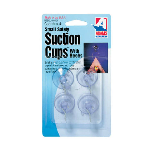 Adams 7500-77-3040 Small Suction Cups with Hook, 4-Pack