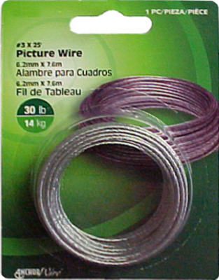 Hillman Fasteners 121110 Braided Picture Hanging Wire, 30 Lb, #3 x 25'