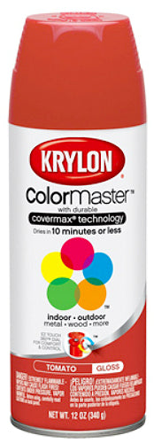 Krylon® K05353202 5-Ball Decorator ColorMaster™ Enamel Paint, 12 Oz, Tomato