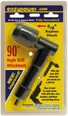 "Eazypower® 81544 90-Degree Angle Drill Attachment with 3/8"" Keyless Chuck"