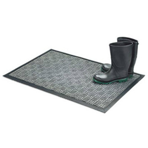 "Bacova 05520 Floor Saver II Mat w/Slide Resistant Rubber Backing, 18"" x 30"",Gray"