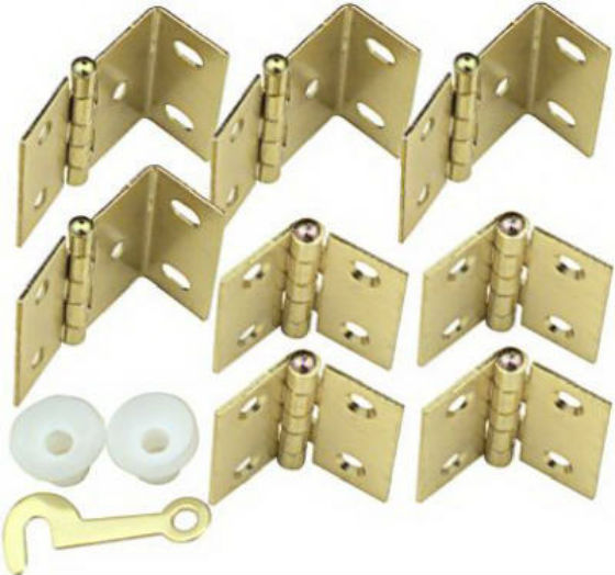 National Hardware® N269-860 Shutter Hinge Kit, Bright Brass