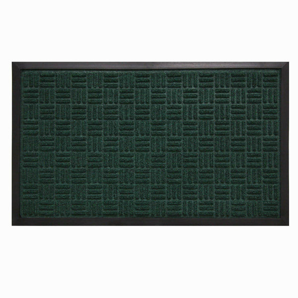 "Bacova 05521 Floor Saver II Mat w/Slide Resistant Rubber Backing, 18""x30"", Green"