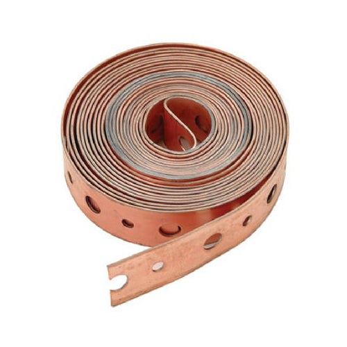 "Master Plumber 323-033 Perforated Copper Pipe Strapping, 3/4"" x 10'"