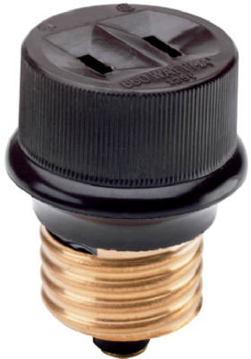Pass & Seymour Lampholder Adapter, 660W, 125V, Brown