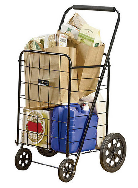Easy Wheels® NTC002BK Super 4-Wheel Folding Shopping Cart, Black, 250 Lb