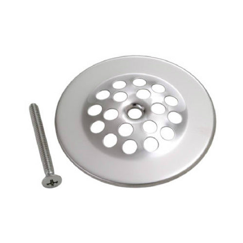 Master Plumber 330-826 Tub Strainer Cover with Screw, Chrome