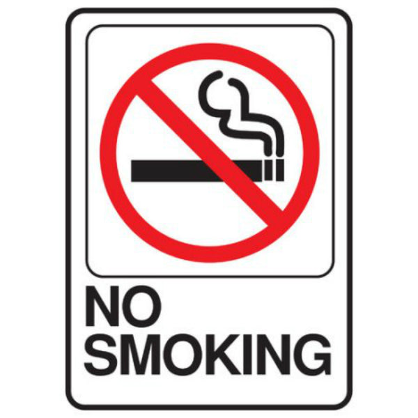 "Hy-Ko D-20 Heavy-Duty Plastic ""No Smoking"" Deco Sign, 5"" x 7"""
