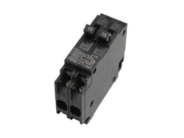 Connecticut Electric VPKICBQ1515 Single Pole Twin Interchangeable Circuit Breaker, 15A