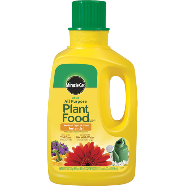 Miracle-Gro® 1001502 Liquid All Purpose Plant Food Concentrate, 1 Qt, 12-4-8