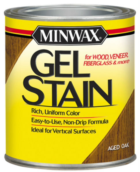 Minwax® 66020 Gel Stain for Wood/Veneer/Fiberglass, 1 Qt, Aged Oak