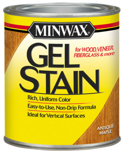 Minwax® 66030 Gel Stain for Wood/Veneer/Fiberglass, 1 Qt, Antique Maple