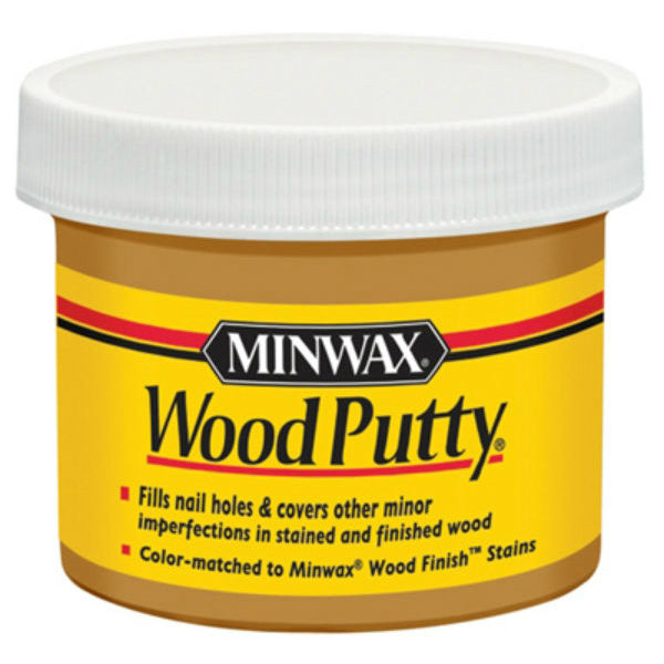 Minwax® 13614 Non-Hardening Pre-Mixed Wood Putty, Early American, 3.75 Oz