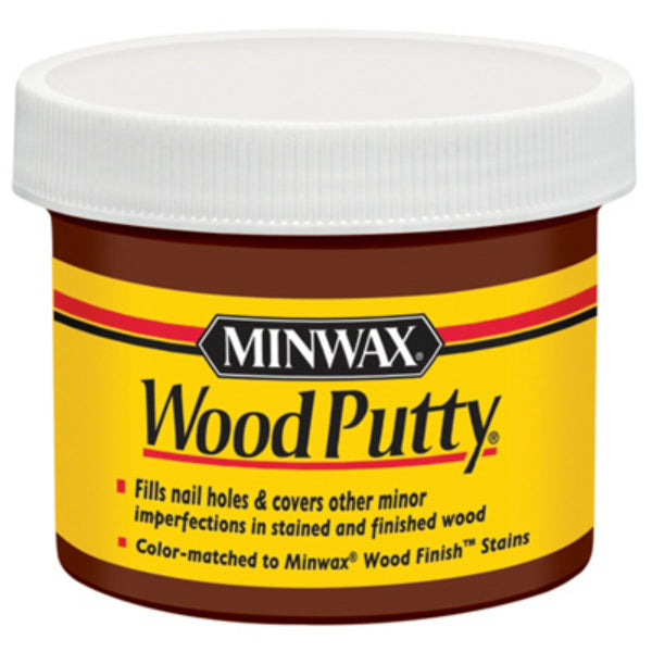 Minwax® 13617 Non-Hardening Pre-Mixed Wood Putty, Walnut, 3.75 Oz