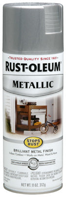 Rust-Oleum® Stops Rust® Rust Inhibiting Spray Paint, 11 Oz, Silver Metallic