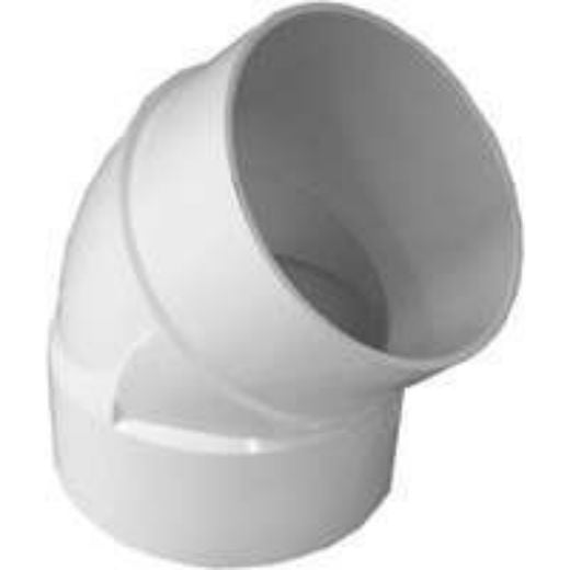 Genova 42740 Sewer & Drain 45-Degree Street Elbow, 4""
