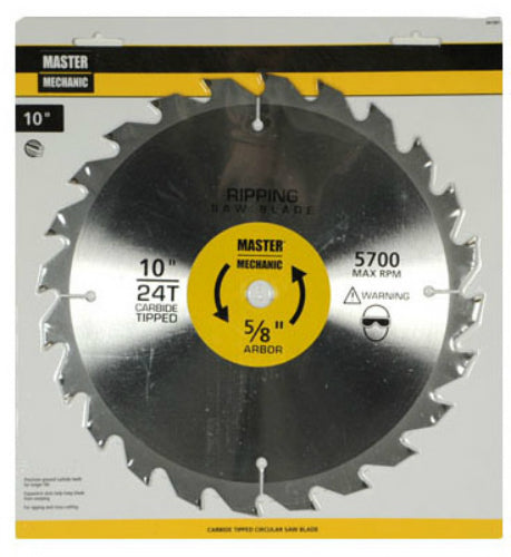"Master Mechanic 341081 Combination Ripping Saw Blade, 10"", 24 Teeth"
