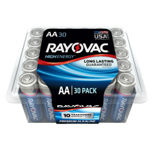 Rayovac 815-30 AA-Cell Alkaline Battery, 30 Pack