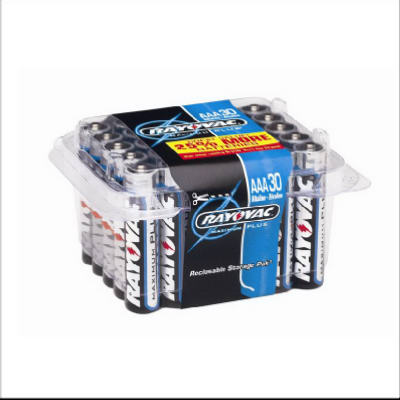 Rayovac 824-30 High Energy Alkaline AAA Batteries, 30-Pack