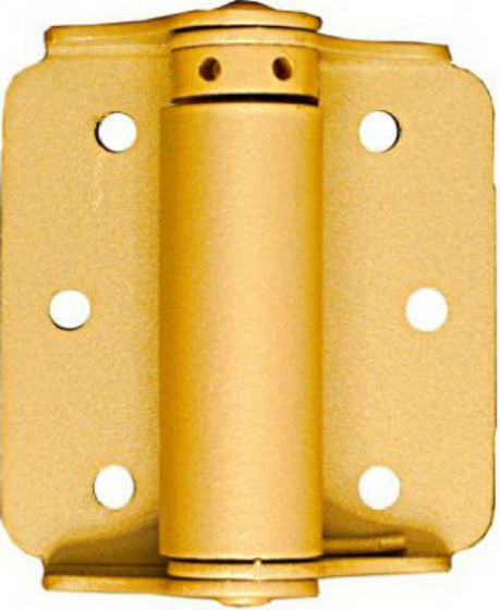 "National Hardware® N115-006 Adjustable Spring Hinge, 3"", Baked Enamel Brass, 2-Pack"