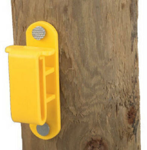 Dare 2330-25 Electric Fence Tape Insulator for Wood Posts, Yellow, 25-Count