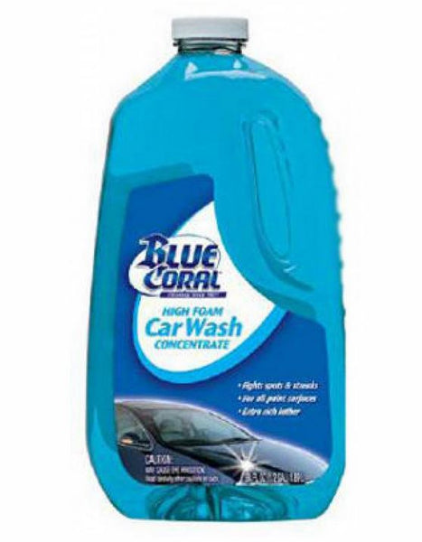 Blue Coral® WC107G High Foam Car Wash Concentrate, 64 Oz