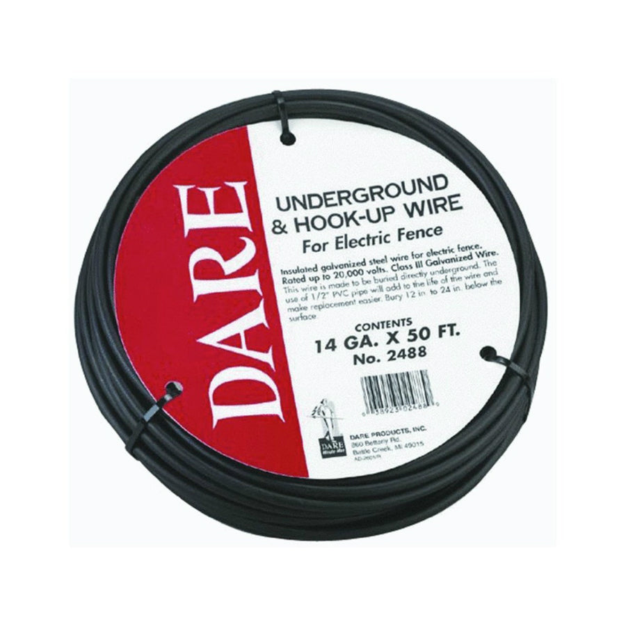 Dare 2488 Underground & Hook Up Wire for Electric Fence, 14 Gauge x 50' Coil