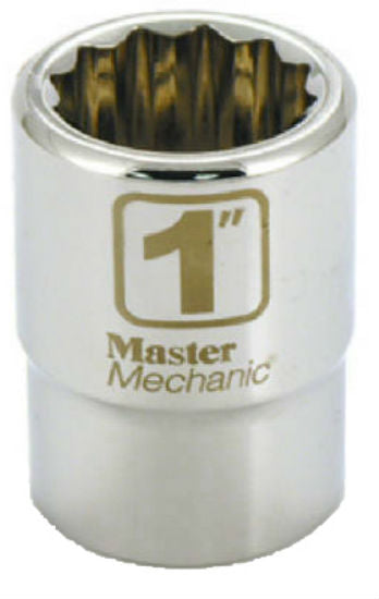 "Master Mechanic 351213 12-Point Socket, 3/4"" Drive, 1"""